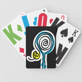 Playing card with tennis theme