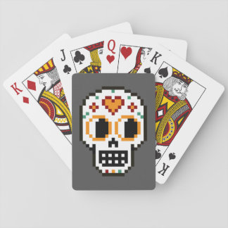 Playing Cards: 8-Bit Day of the Dead Skull Playing Cards