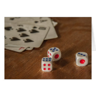 Playing Cards and Dice Greeting Card
