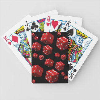 Playing cards back red dice for him