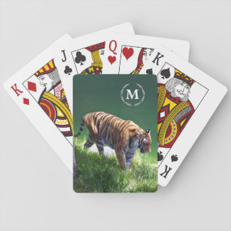 Playing Cards - Bengal Tiger with your Monogram
