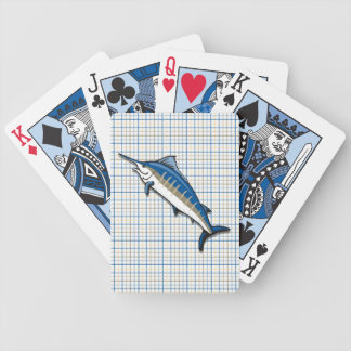 Playing Cards - Blue Marlin on Plaid