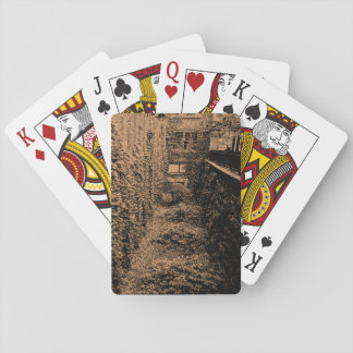 Playing Cards - Brick & Ivy Scene - Choose a Color