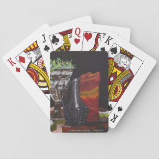 "Playing Cards ""Candle & Plant Still"" ALarsenArtist"