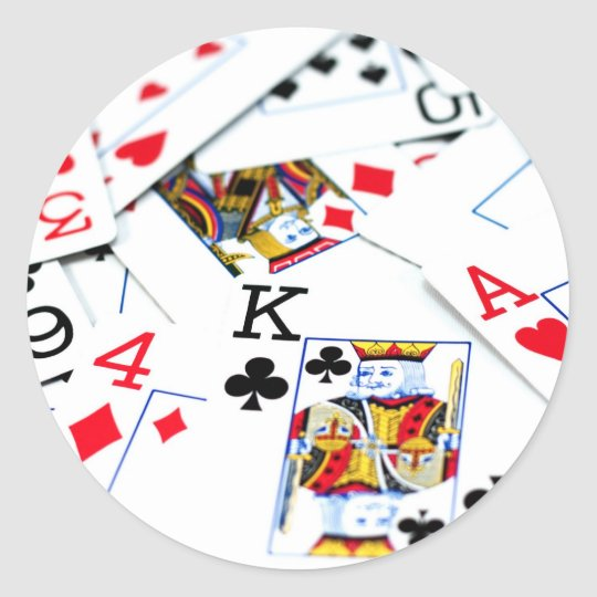 Playing Cards Classic Round Sticker