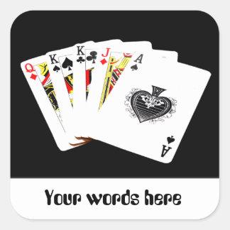 Playing cards gambling customizable sticker