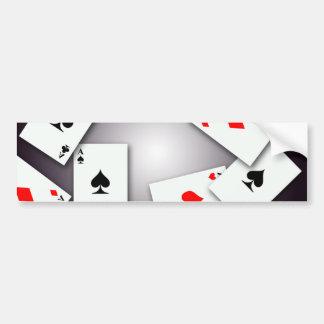 PLAYING CARDS GAMES POKER BLACKJACK GAMBLING GOFIS BUMPER STICKERS