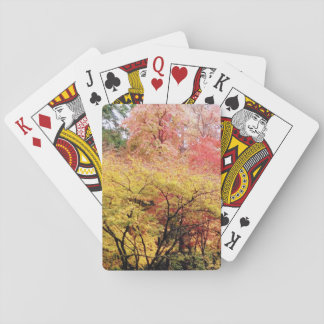 Playing cards in fall colors