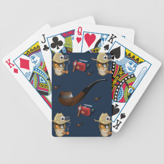 Playing cards man cave blue cigar for him