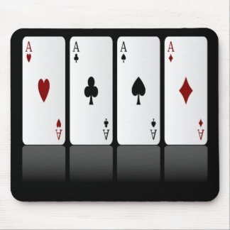 Playing Cards Mousepad, Four Aces Mouse Pad