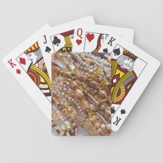 Playing Cards- Natural Earthtones Beads Print Playing Cards