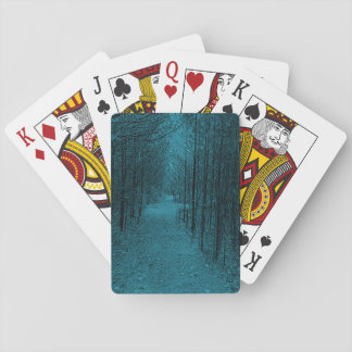 Playing Cards - Nature Trail Pattern Blue
