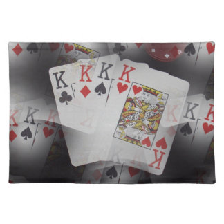 Playing Cards Quad Kings Layered Pattern, Placemat