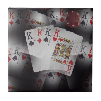 Playing Cards Quad Kings Layered Pattern, Tile