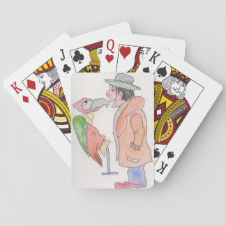 Playing cards, standard index faces w/characters playing cards