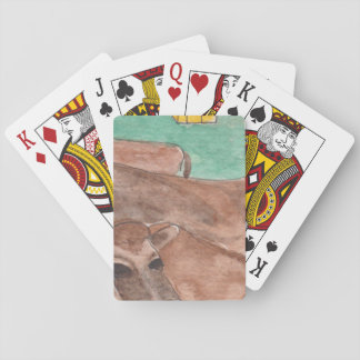 Playing Cards, Standard Index faces w/cow Poker Deck