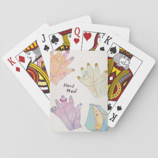 playing cards standard index faces w/hand maid