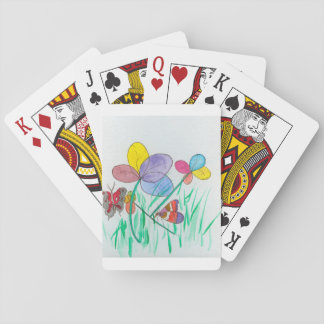 Playing cards standard index faces with watercolor