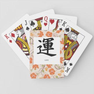 "Playing CARDS, STANDARD INDEX, KANJI SYMBOL ""LUCK"" Playing Cards"