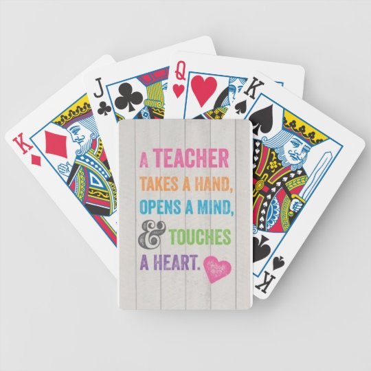 Playing Cards Teacher Quote