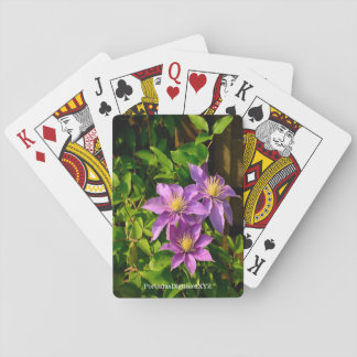 """Playing cards """"the Clematis Flower """""""