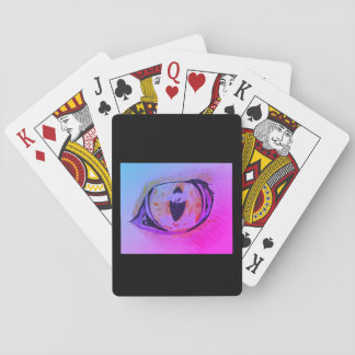 Playing cards. The eye. Playing Cards
