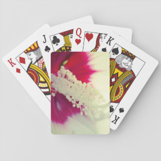 Playing Cards White flowe Detail