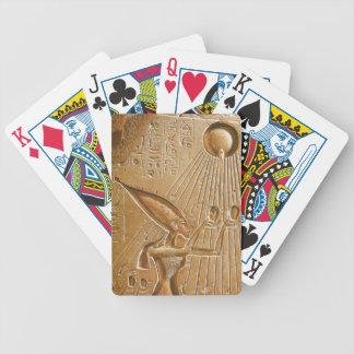 Playing Cards With Akhenaten Worshiping Aten