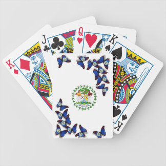 Playing cards  with Belize Flag on Butterfly.