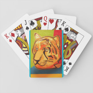 Playing Cards with Bold Tiger Design