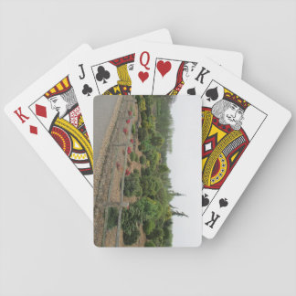 Playing Cards With Conifer Scene