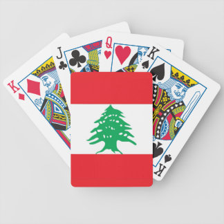 Playing Cards with Flag of Lebanon