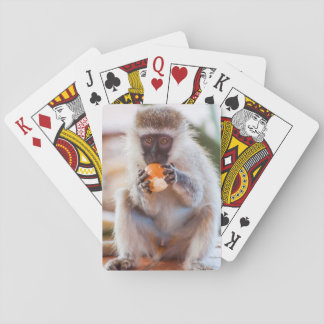 Playing Cards with front image of Monkey eating