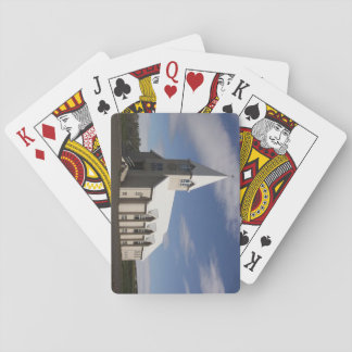 Playing Cards With Icelandic Church Picture
