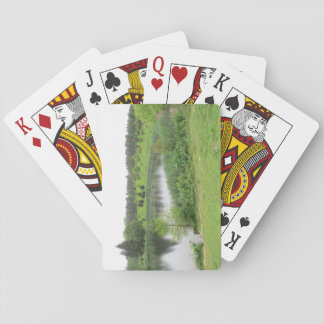 Playing Cards With Lake Scene