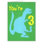 Playing Dino Birthday Card 3