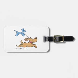 Playing Dog Luggage Tag