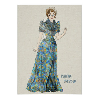 Playing Dress-up with a Paper Doll Poster