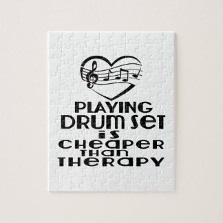 Playing Drum Set Is Cheaper Than Therapy Jigsaw Puzzle