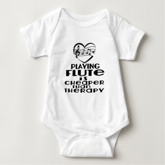Playing Flute Is Cheaper Than Therapy Baby Bodysuit