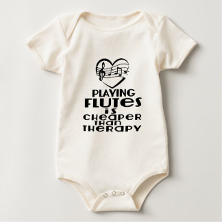 Playing Flutes Is Cheaper Than Therapy Baby Bodysuit