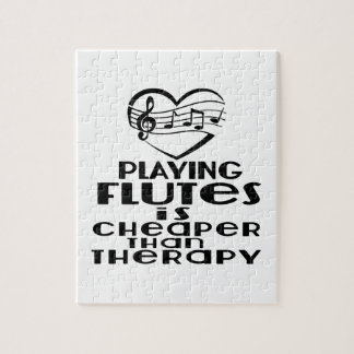 Playing Flutes Is Cheaper Than Therapy Jigsaw Puzzle