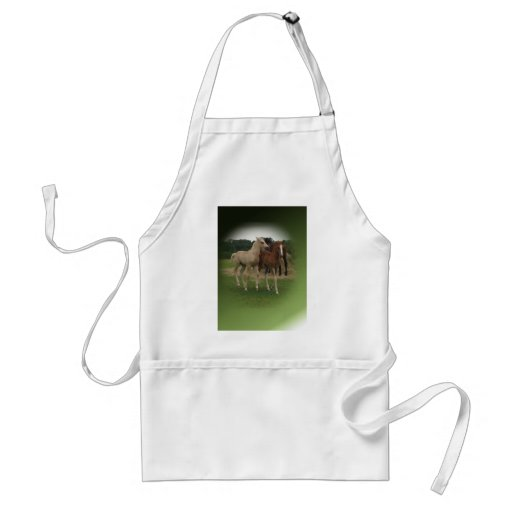 Playing Foals Crosstitched Aprons