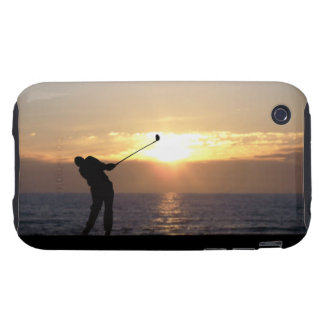 Playing Golf At Sunset iPhone 3 Tough Covers