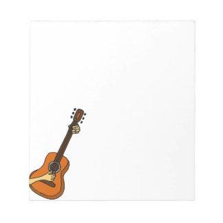 Playing Guitar Art Original Notepads
