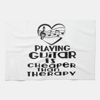 Playing Guitar Is Cheaper Than Therapy Kitchen Towel