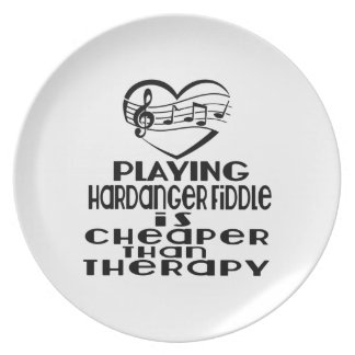 Playing Hardanger Fiddle Is Cheaper Than Therapy Plate