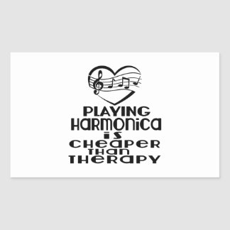 Playing Harmonica Is Cheaper Than Therapy Sticker