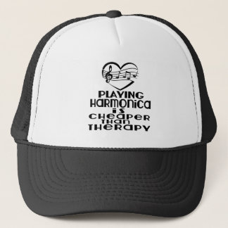 Playing Harmonica Is Cheaper Than Therapy Trucker Hat