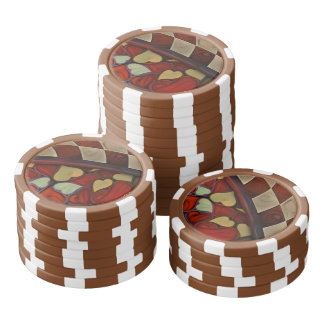 Playing Hide n Seek with the Queen of Hearts Poker Chips Set